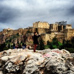 He brought us to this place where we could view the Acropolis and get good pictures...