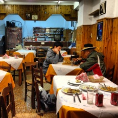 We walked into a small alley and found this quiet restuarant...