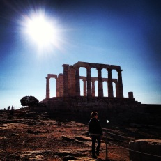 And the highlight of the day was visiting the ruins of the Temple of Poseidon at Cape Sounion