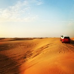 Moving from dune to dune in these cute little 4 wheel drives!