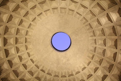 Let there be light! Starring out of The Pantheon's oculus.