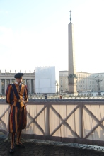 Swiss Guard, their uniforms are so colourful! And traditional.